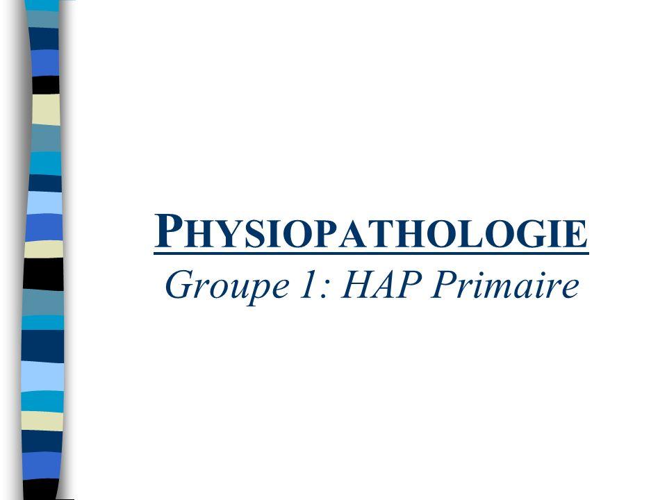 Organisation Mondiale de la Santé n Groupe 1: HAP n Groupe 2: Dysfonction Ventricule (G) n Groupe 3: Maladies respiratoires chroniques (eg MPOC) n Gro