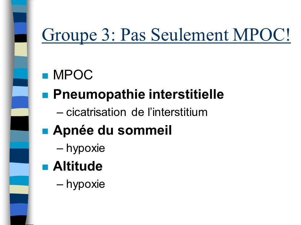 P HYSIOPATHOLOGIE Groupe 3: MPOC
