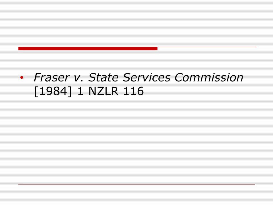 Fraser v. State Services Commission [1984] 1 NZLR 116