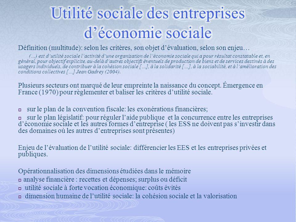 Définition (multitude): selon les critères, son objet dévaluation, selon son enjeu… (…) est dutilité sociale lactivité dune organisation de léconomie