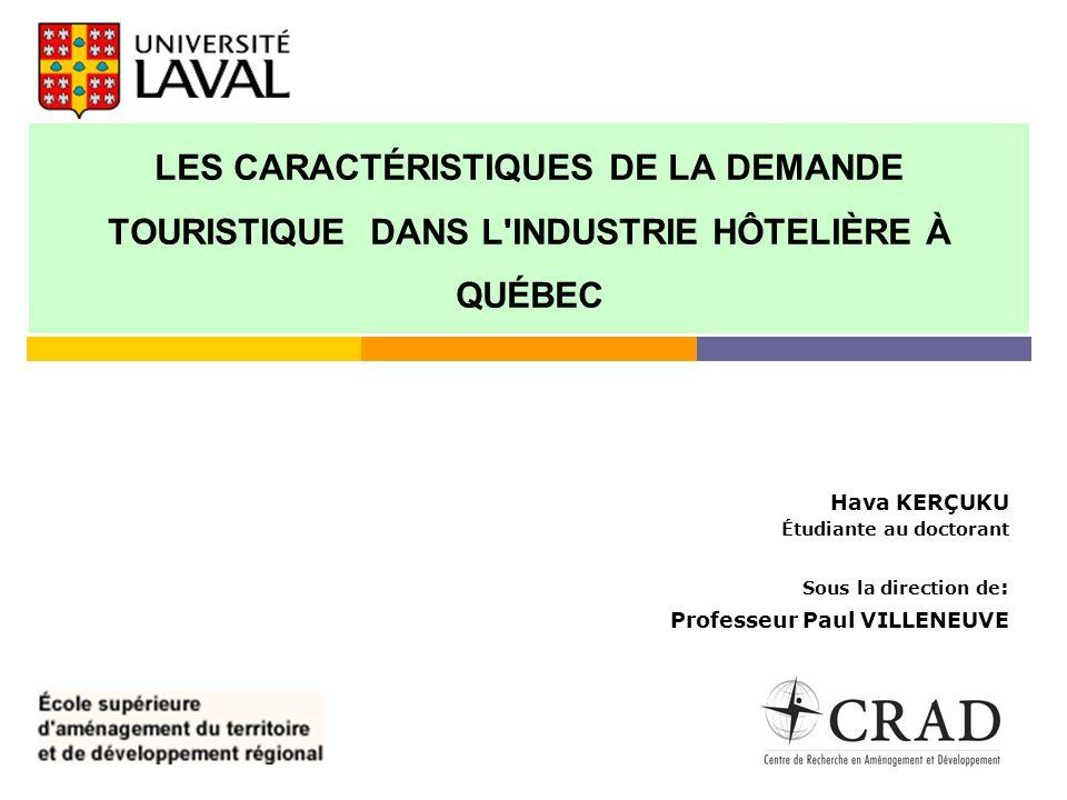 Plan 1.Le contexte régional et sectoriel des activités touristiques 2.