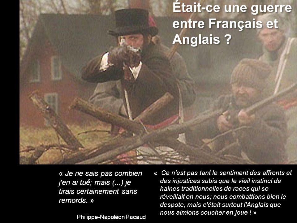 1840 : Union forcée avec lOntario Un nombre égal de députés pour lOntario et le Québec La fusion des dettes Lélimination du français au gouvernement Même si le Québec est 30% plus peuplé.