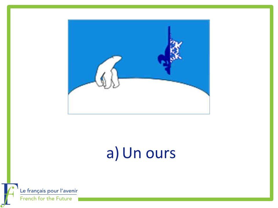a)Un ours