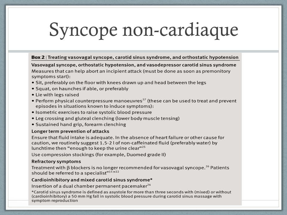 Syncope non-cardiaque