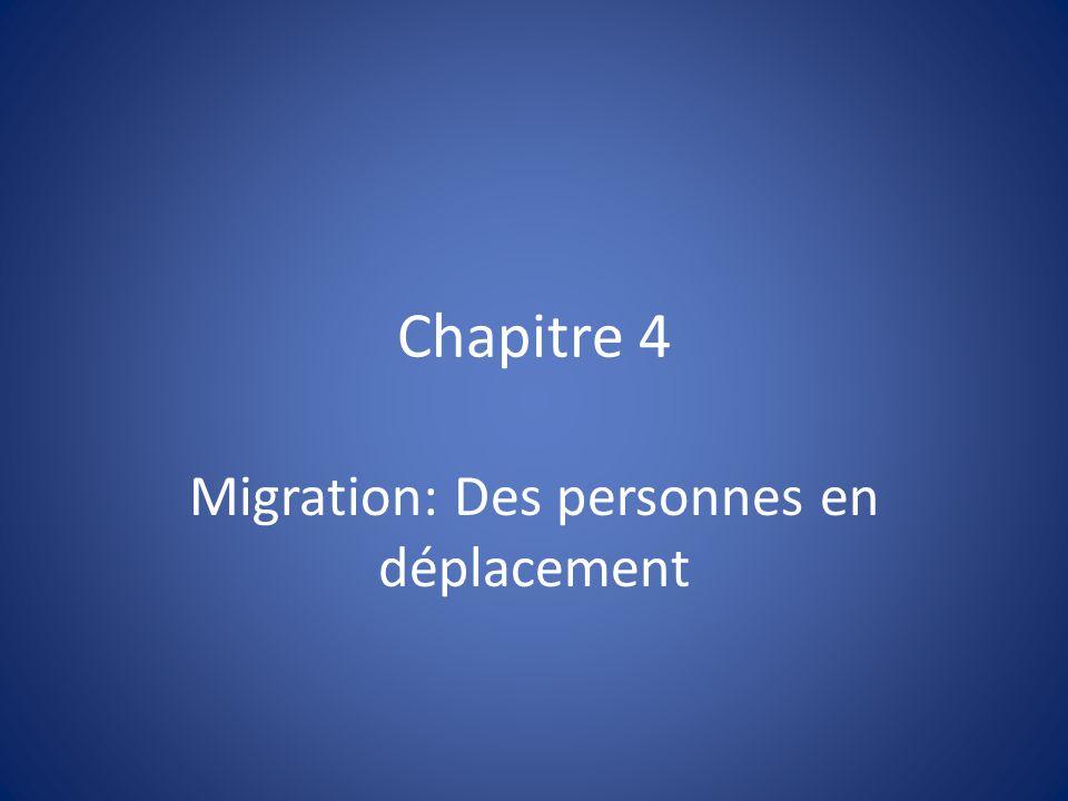 Chapitre 4 Migration: Des personnes en déplacement