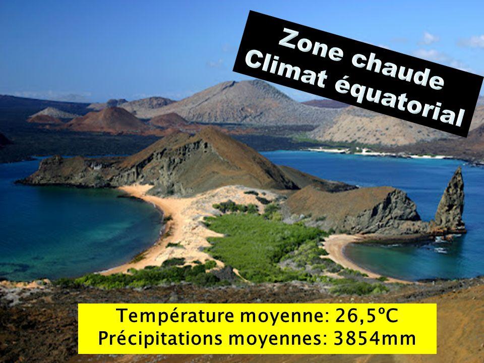 Température moyenne: 26,5ºC Précipitations moyennes: 3854mm