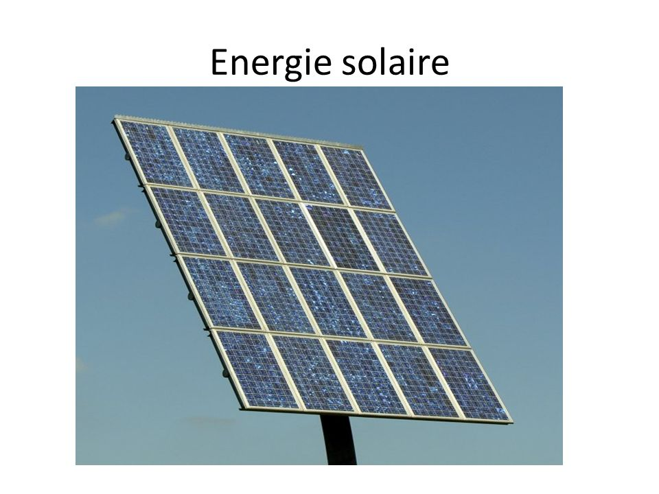 Energie hydraulique
