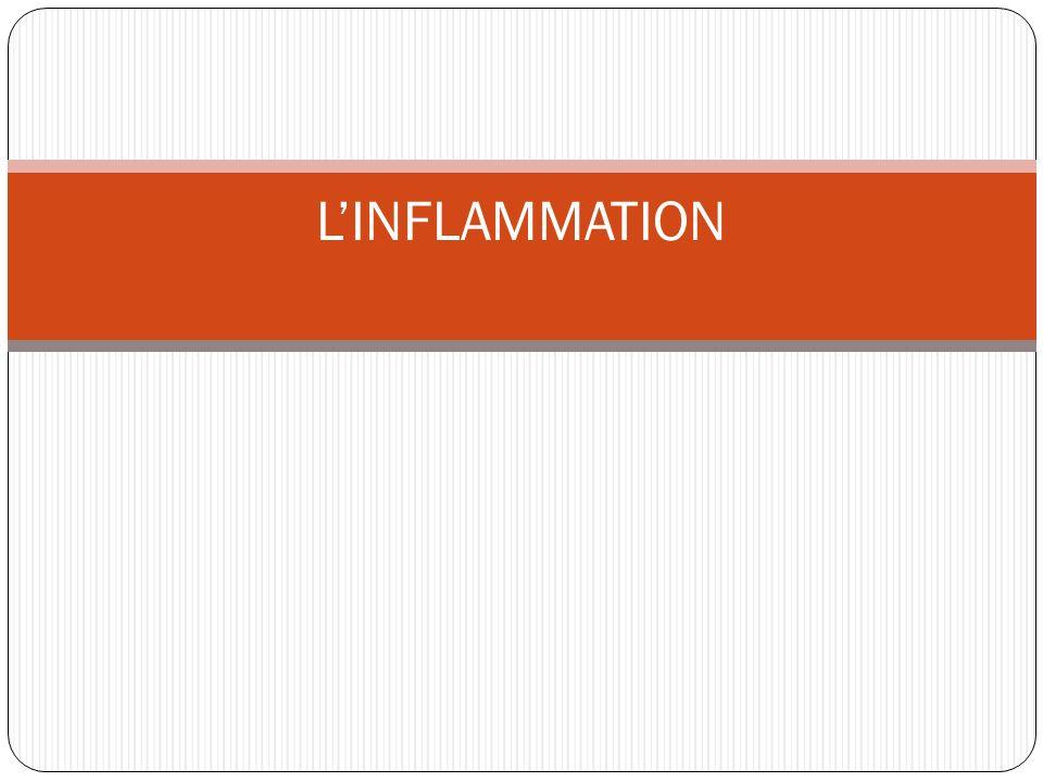 Linflammation est un mécanisme de réponse à une lésion tissulaire visant à la circonscrire et à la réparer.
