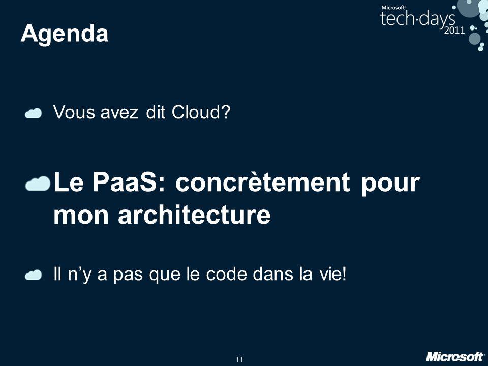 11 Agenda Vous avez dit Cloud.