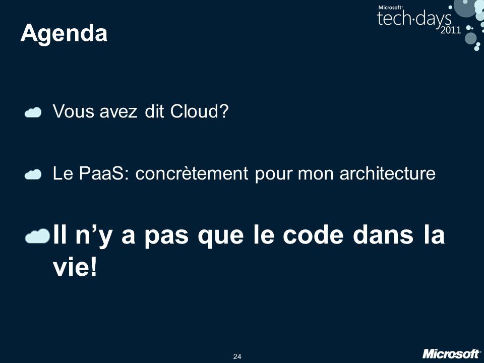 24 Agenda Vous avez dit Cloud.