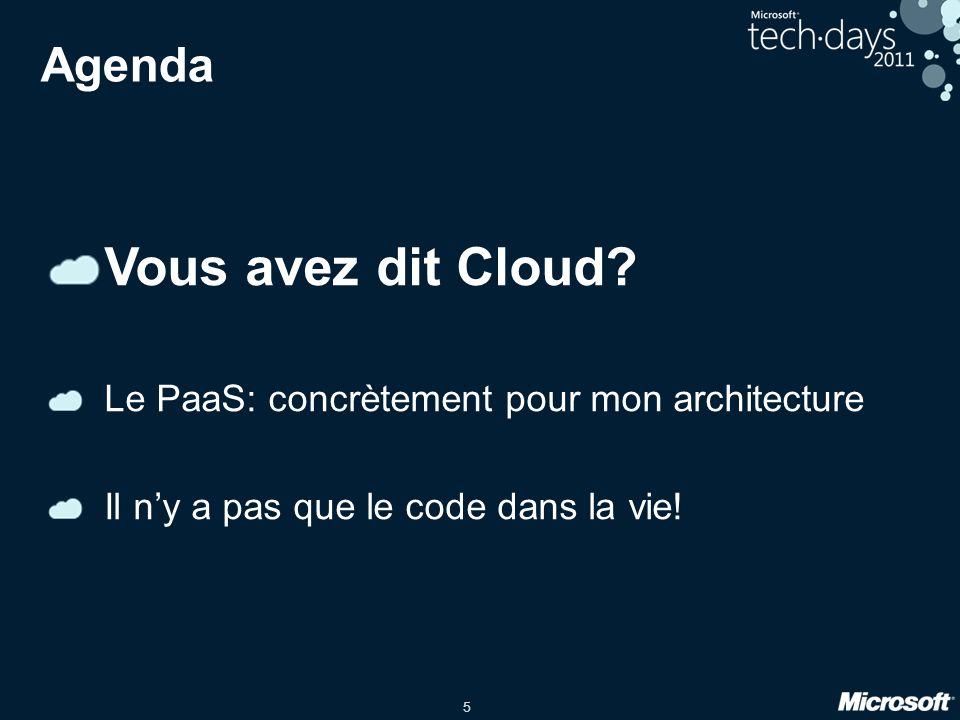 5 Agenda Vous avez dit Cloud.