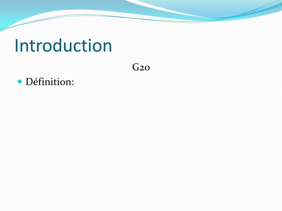 Introduction G20 Définition: