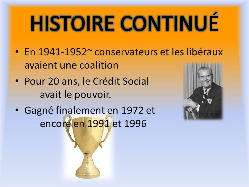 1930 ~ fondation de la FCC du Canada 1933 ~ coalition de socialistes en C.B. se sont unis pour former une partie provinciale de la FCC = lopposition o