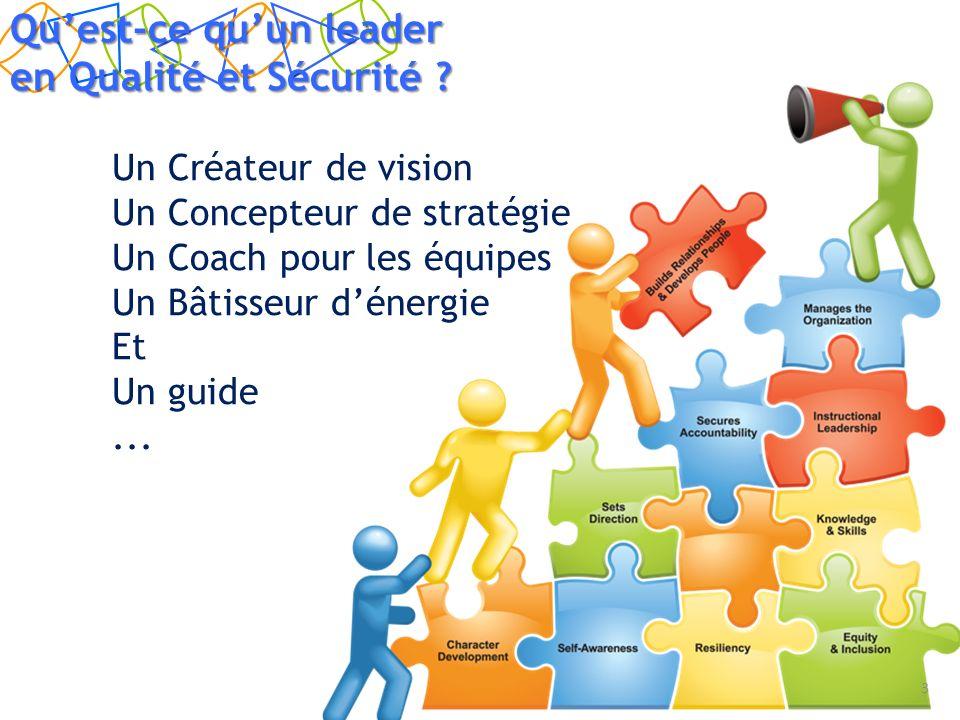 Un Créateur de vision Un Concepteur de stratégie Un Coach pour les équipes Un Bâtisseur dénergie Et Un guide...