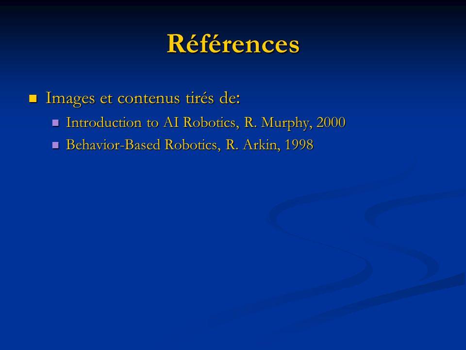 Références Images et contenus tirés de : Images et contenus tirés de : Introduction to AI Robotics, R. Murphy, 2000 Introduction to AI Robotics, R. Mu