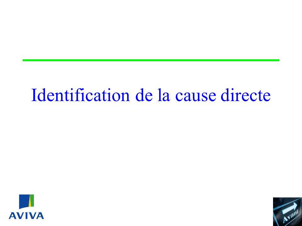 Identification de la cause directe