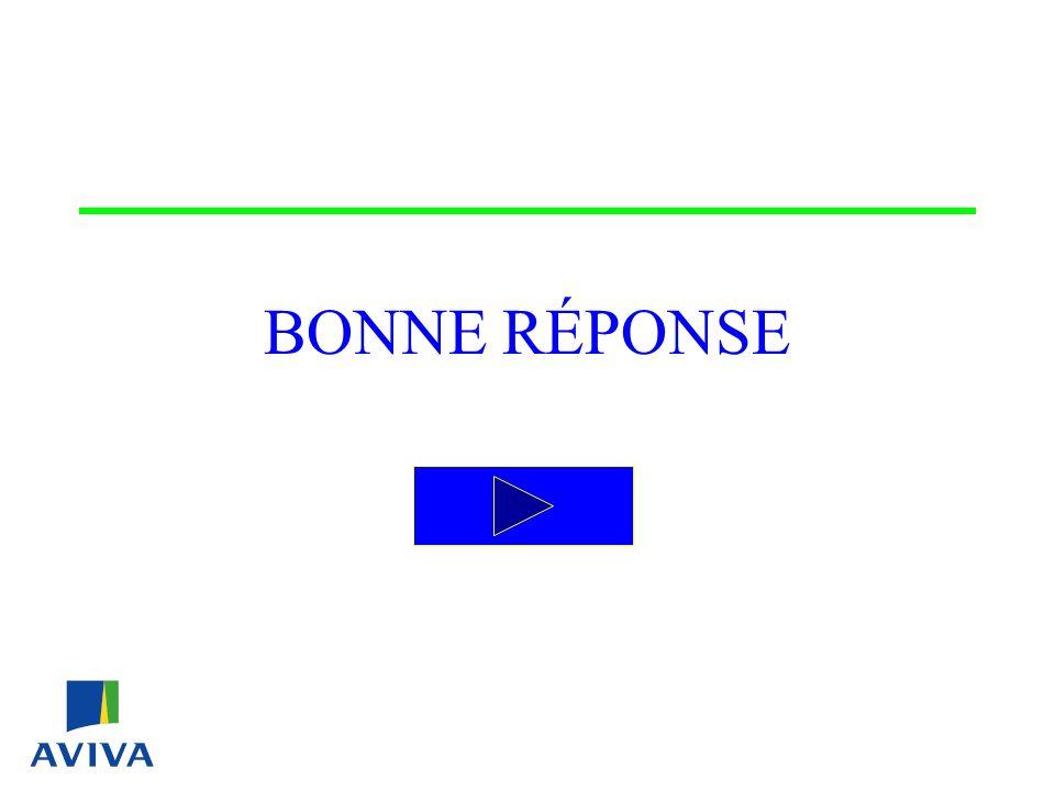 BONNE RÉPONSE