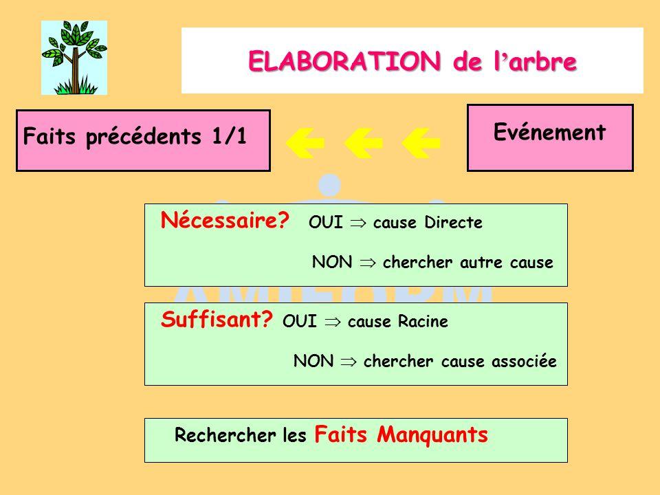 Représentation graphique LES FAITS permanent LES LIAISONS inhabituel