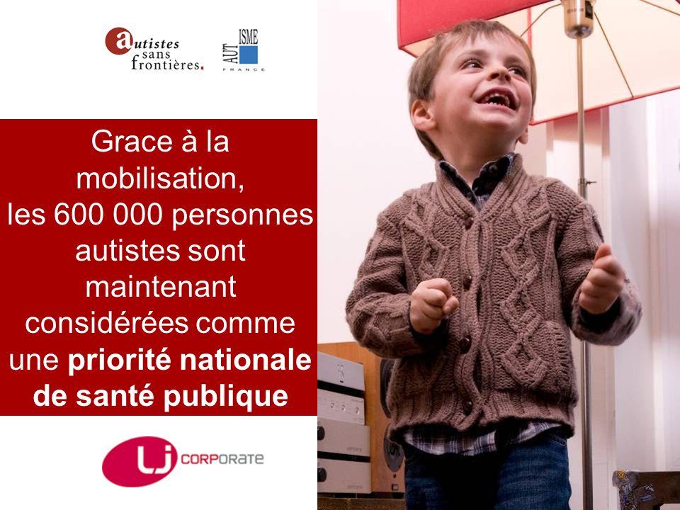 Grace à la mobilisation, les 600 000 personnes autistes sont maintenant considérées comme une priorité nationale de santé publique