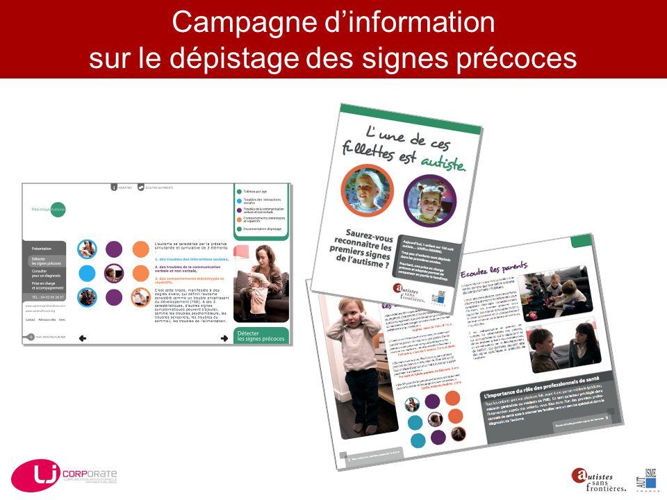 Campagne dinformation sur le dépistage des signes précoces