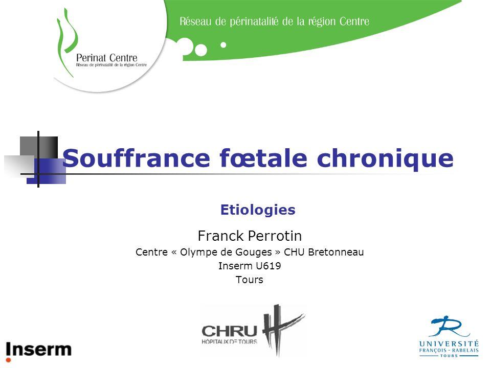 Souffrance fœtale chronique Etiologies Franck Perrotin Centre « Olympe de Gouges » CHU Bretonneau Inserm U619 Tours