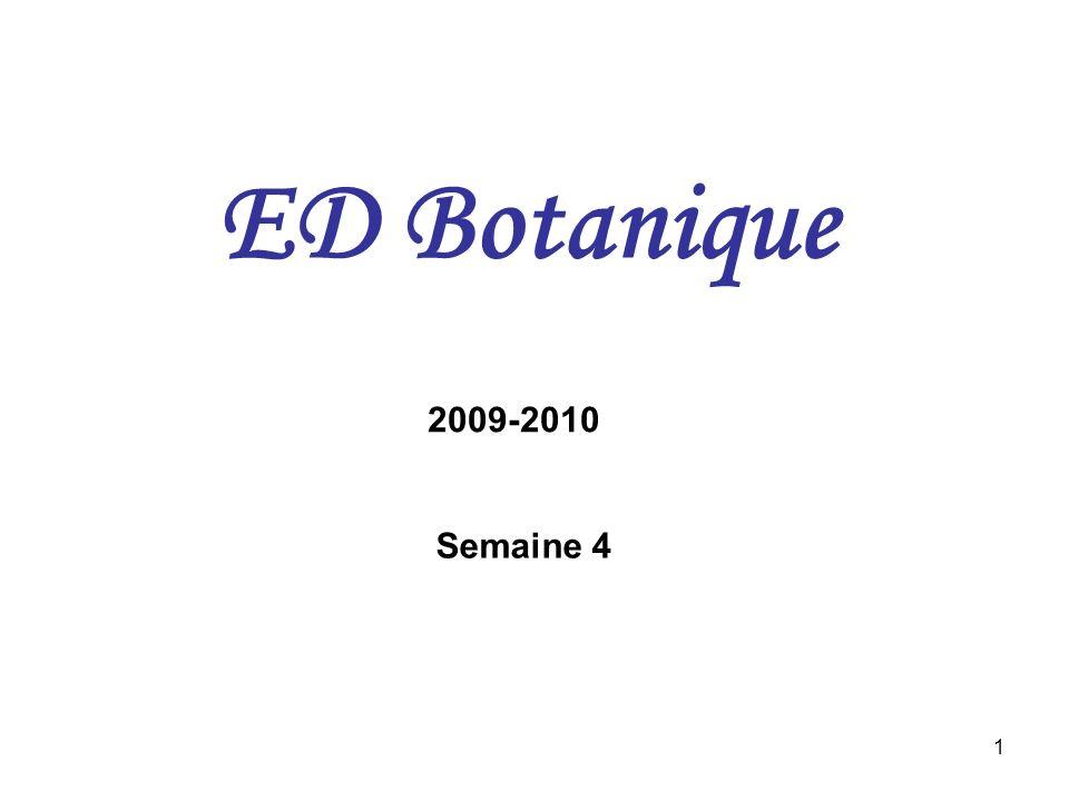 1 ED Botanique 2009-2010 Semaine 4