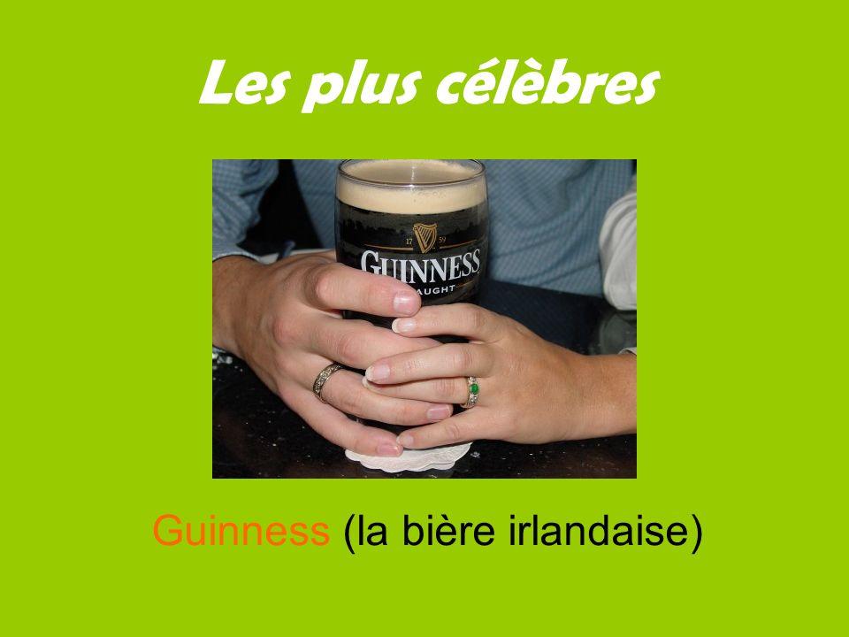 Les plus célèbres Guinness (la bière irlandaise)