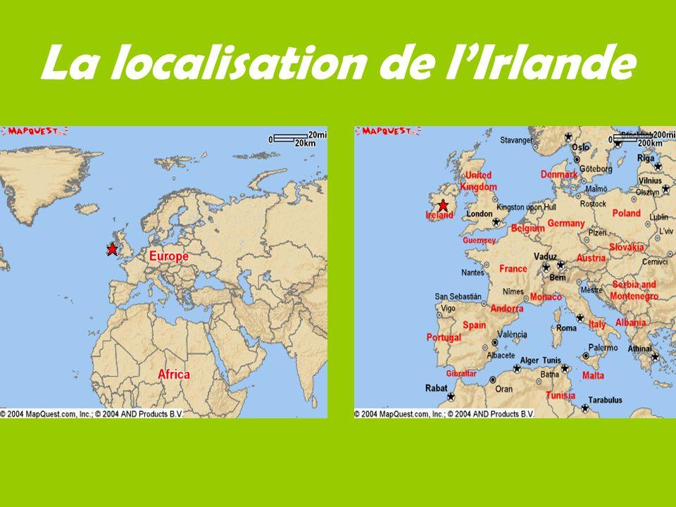 La localisation de lIrlande