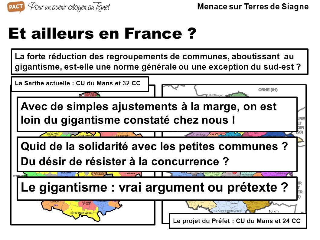 Et ailleurs en France ? La forte réduction des regroupements de communes, aboutissant au gigantisme, est-elle une norme générale ou une exception du s