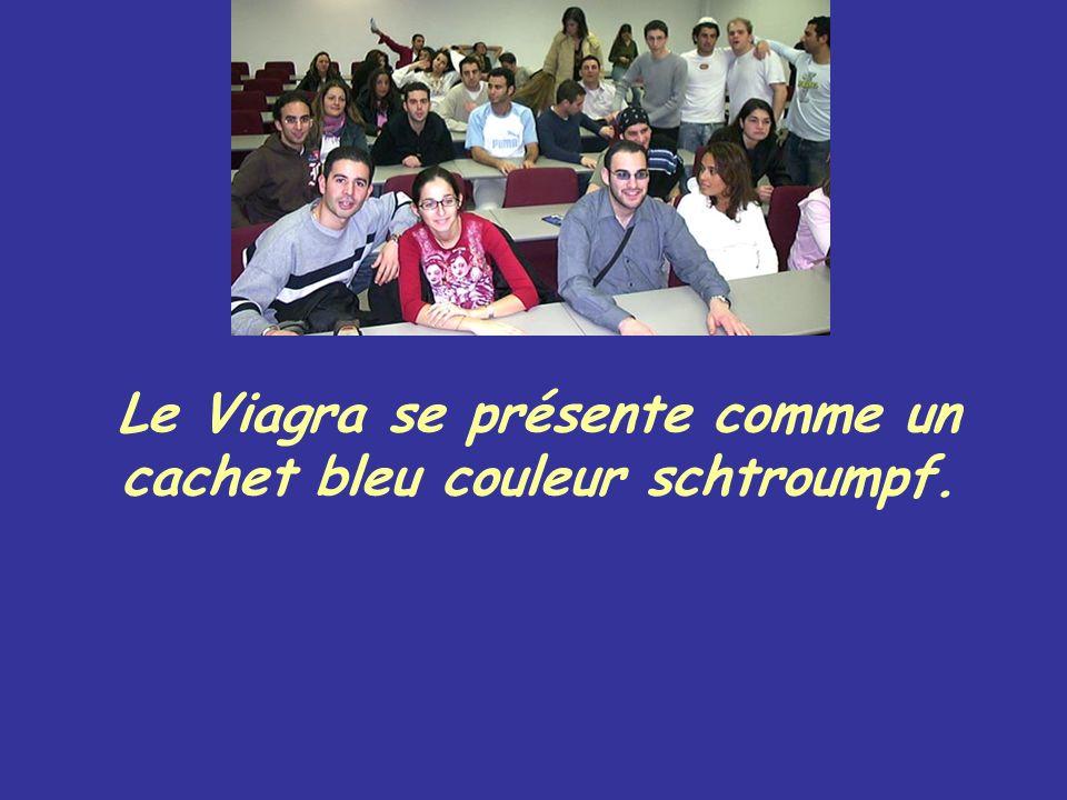 Le Viagra se présente comme un cachet bleu couleur schtroumpf.