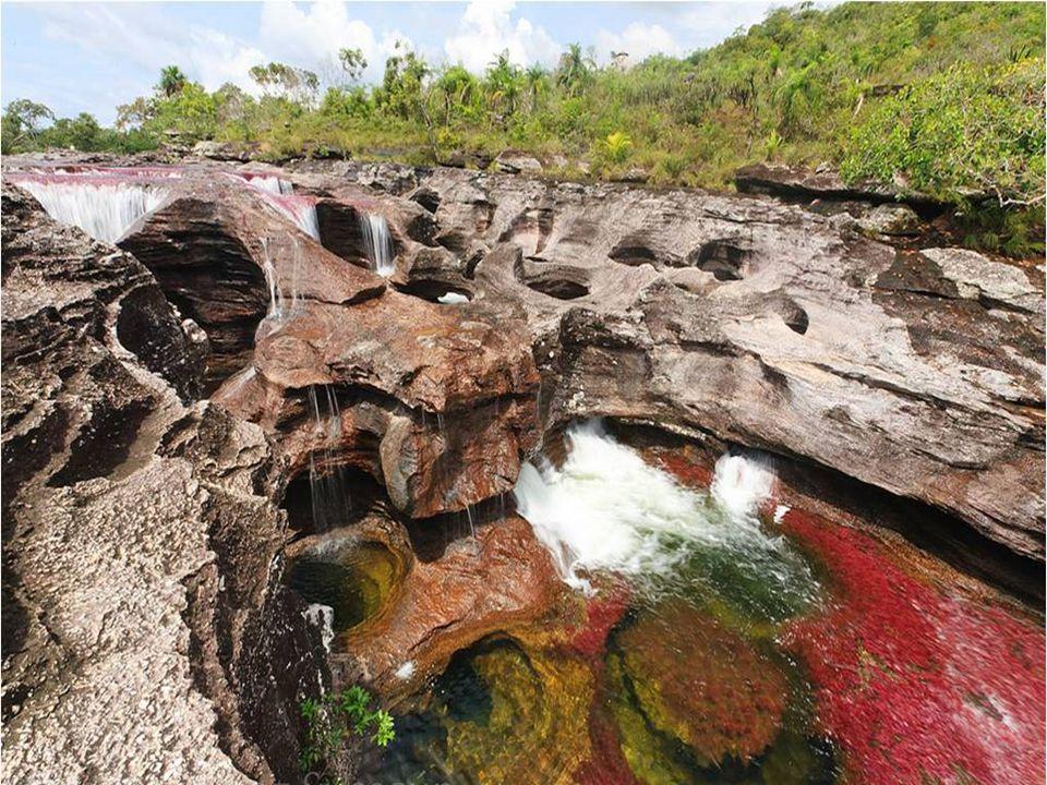Les rochers sur lesquels le fleuve coule, génèrent de petites fosses circulaires appelées nids de poule, qui ont été causés par l'impact d'un matériau