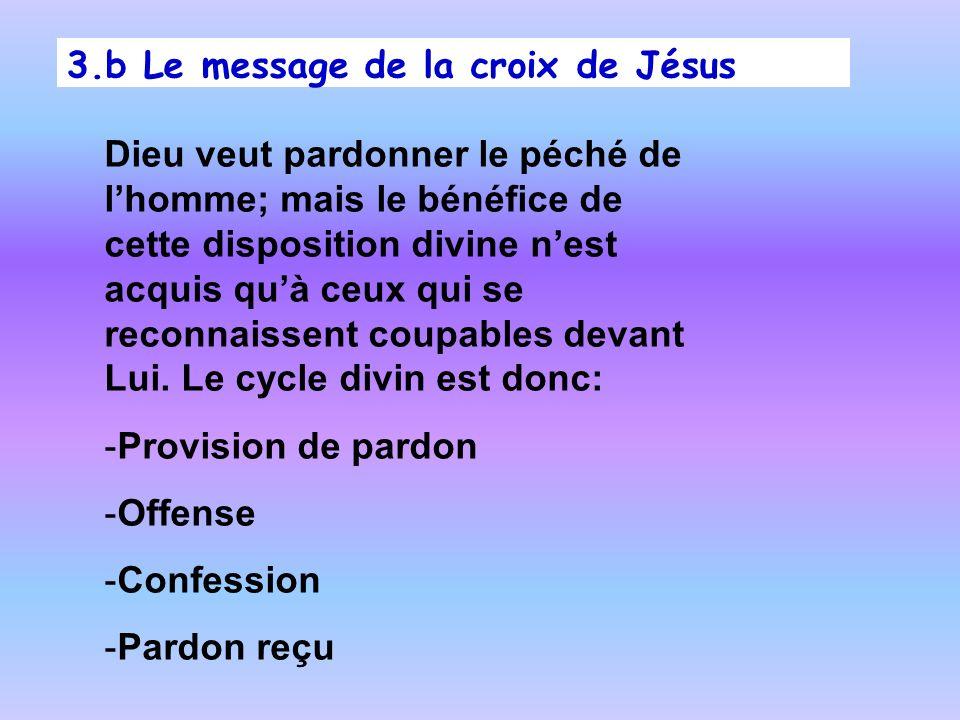 Dieu veut pardonner le péché de lhomme; mais le bénéfice de cette disposition divine nest acquis quà ceux qui se reconnaissent coupables devant Lui. L