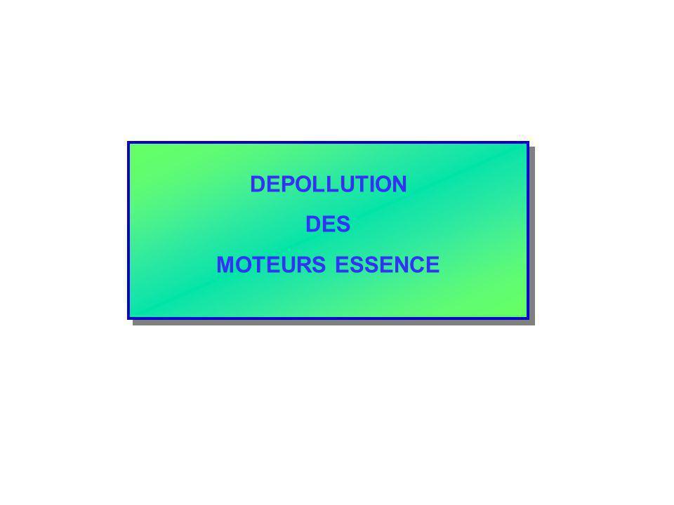 DEPOLLUTION DES MOTEURS ESSENCE DEPOLLUTION DES MOTEURS ESSENCE