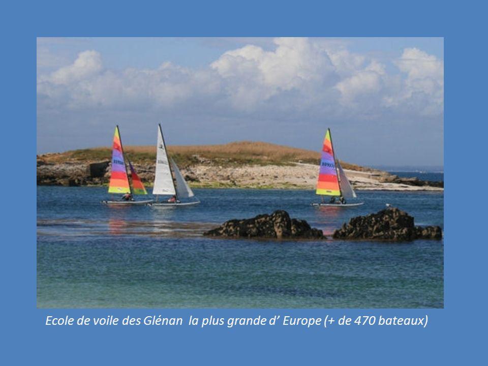LES GLENAN Composé de 9 iles et de nombreux ilots. Son atoll, près de lile Drenec lui donne un air de Tahiti..