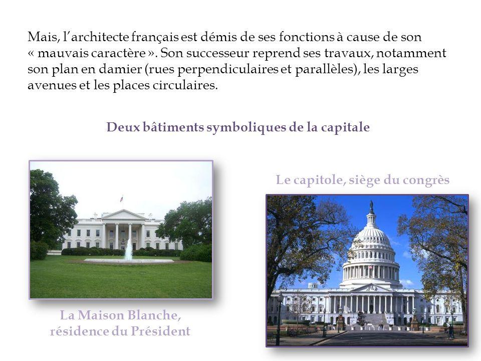 Mais, larchitecte français est démis de ses fonctions à cause de son « mauvais caractère ». Son successeur reprend ses travaux, notamment son plan en
