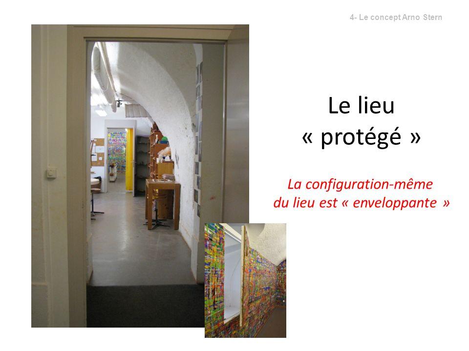 Le lieu « protégé » La configuration-même du lieu est « enveloppante » 4- Le concept Arno Stern
