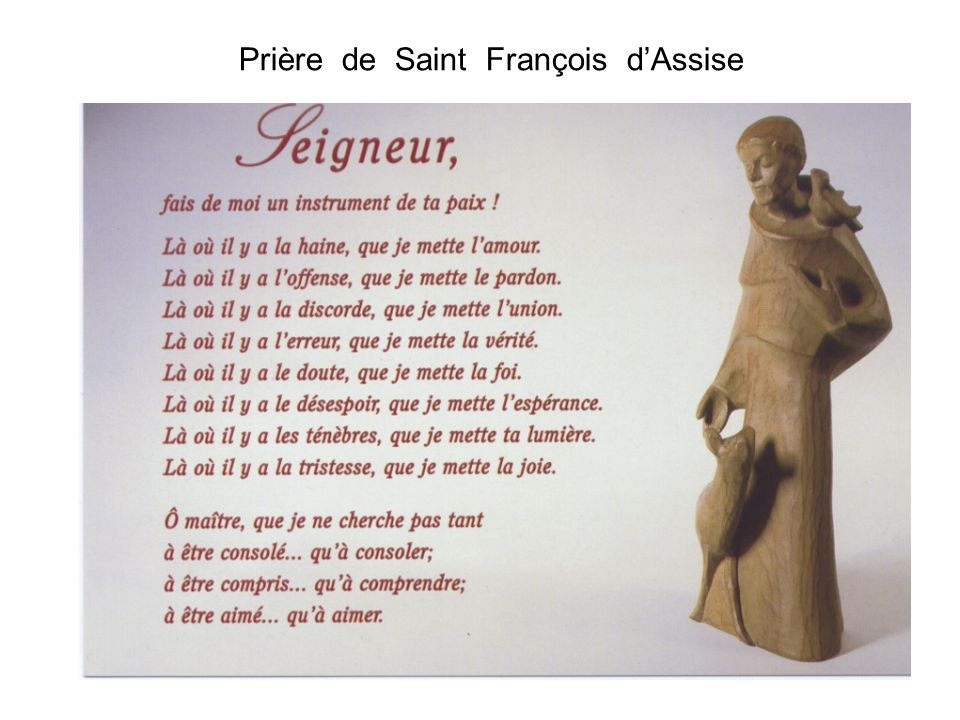 Prière de Saint François dAssise