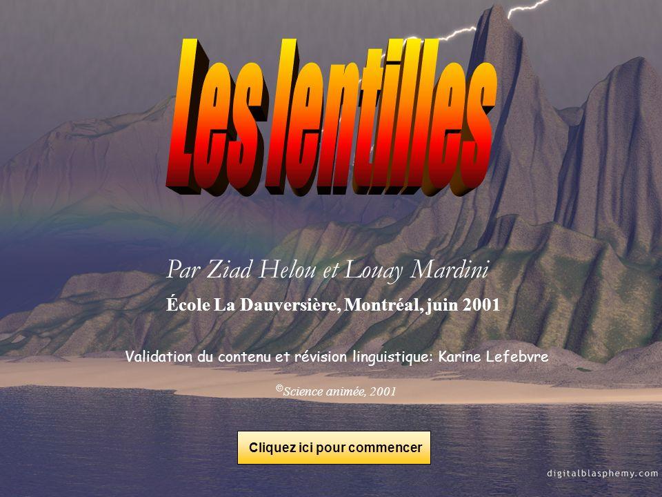 Par Ziad Helou et Louay Mardini École La Dauversière, Montréal, juin 2001 Validation du contenu et révision linguistique: Karine Lefebvre Science anim