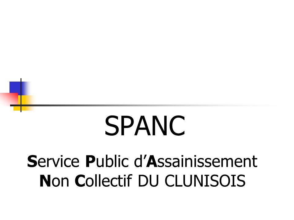SPANC Service Public dAssainissement Non Collectif DU CLUNISOIS