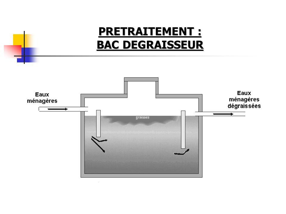 PRETRAITEMENT : BAC DEGRAISSEUR