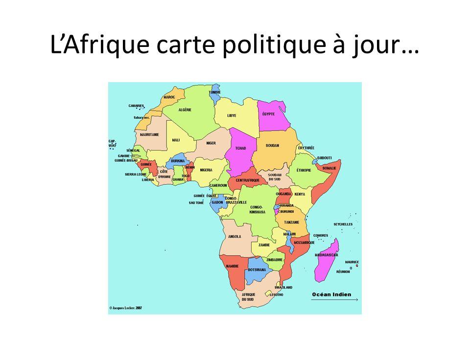 LAfrique carte politique à jour…