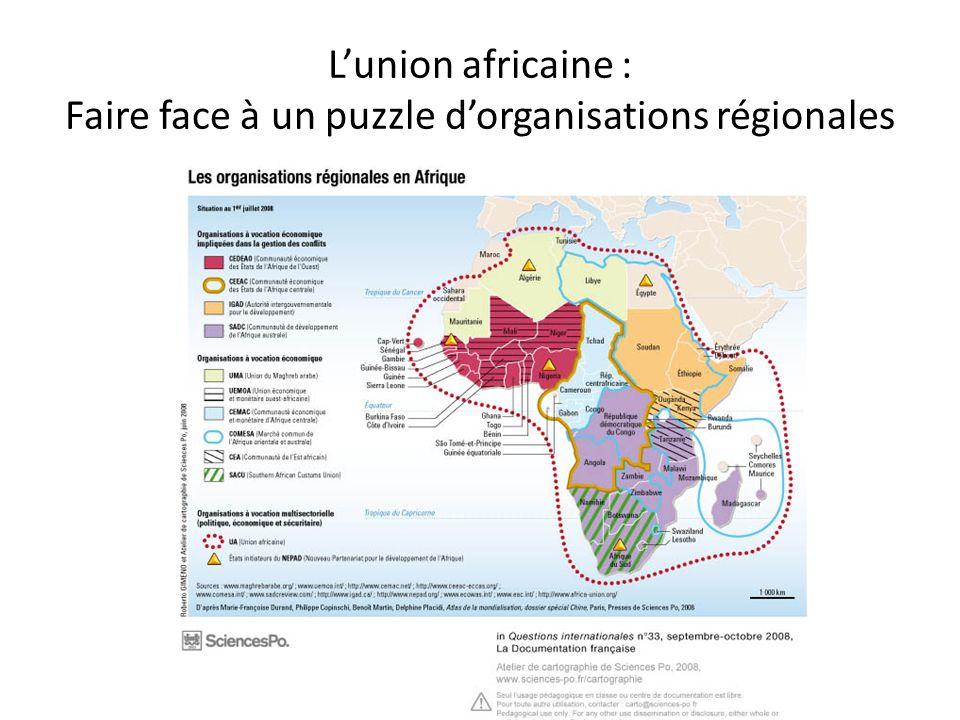 Lunion africaine : Faire face à un puzzle dorganisations régionales