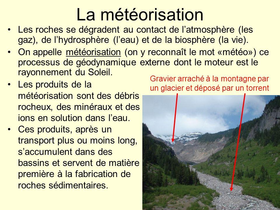 On distingue souvent des strates dans ces roches sédimentaires, c.-à-d.