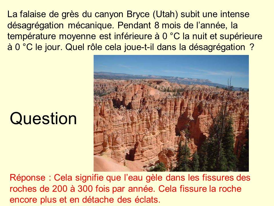 Structures des dépôts sédimentaires Les sédiments déposés durant un certain intervalle de temps forment souvent une strate.