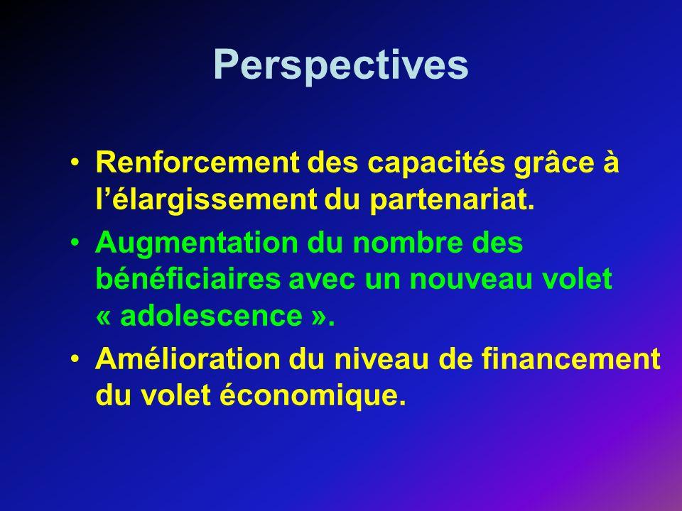 Perspectives Renforcement des capacités grâce à lélargissement du partenariat.