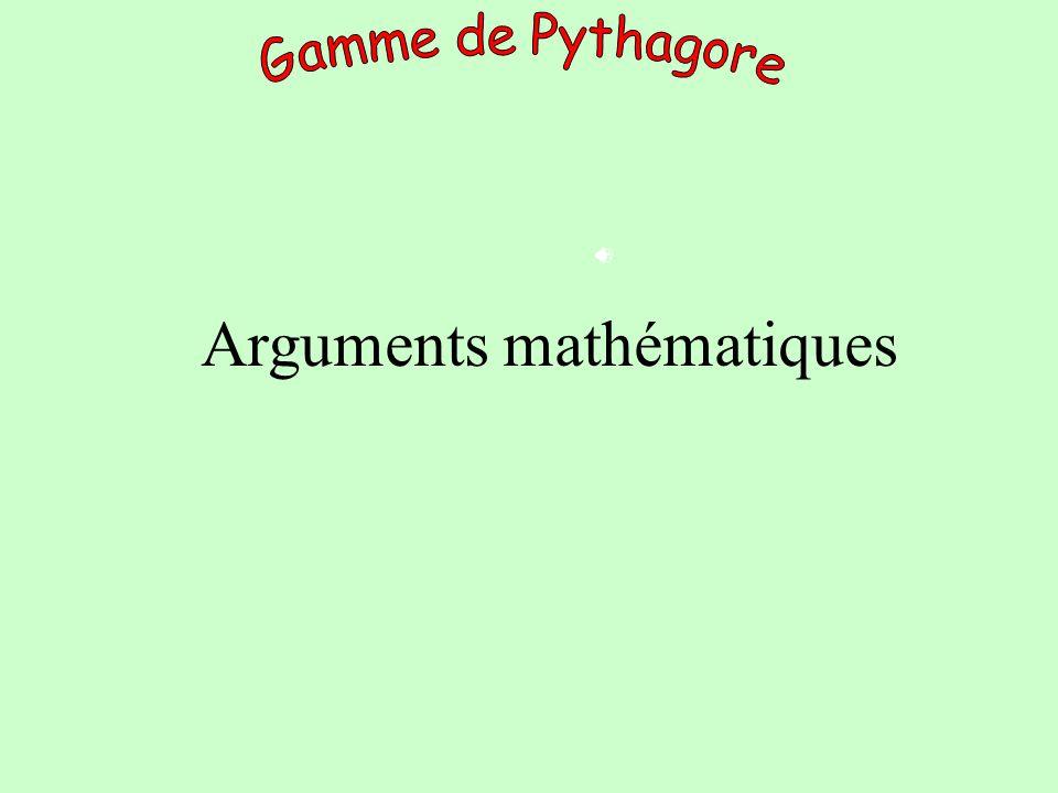Arguments mathématiques