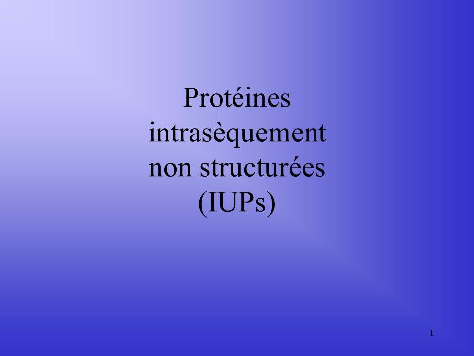1 Protéines intrasèquement non structurées (IUPs)