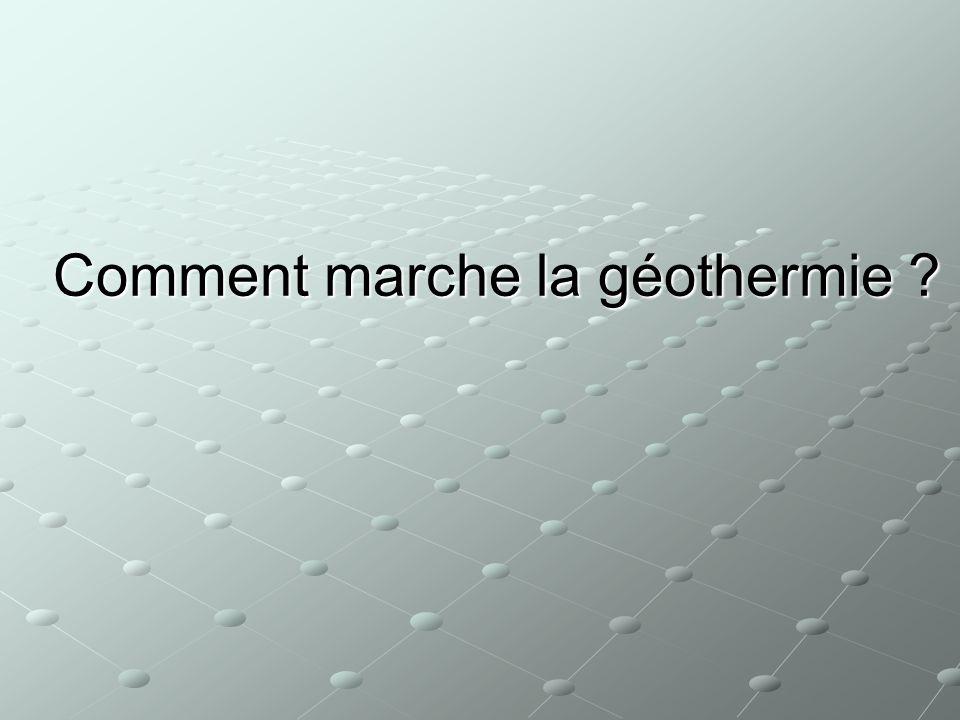 Comment marche la géothermie ?
