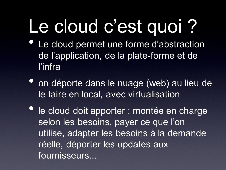 Le cloud cest quoi .