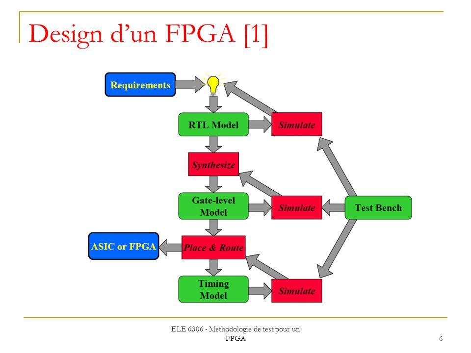 ELE 6306 - Methodologie de test pour un FPGA 6 Design dun FPGA [1]